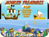 Flash игра Monkey Treasures